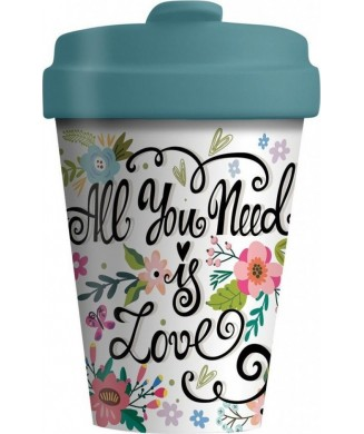 BAMBOO CUP ALL YOU NEED IS LOVE BCP228