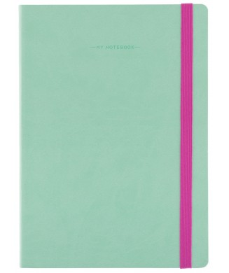 LEGAMI NOTEBOOK 17χ24 LARGE PLAIN AQUA MYNOT0089