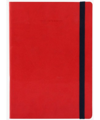 LEGAMI NOTEBOOK 17χ24 LARGE PLAIN RED MYNOT0082