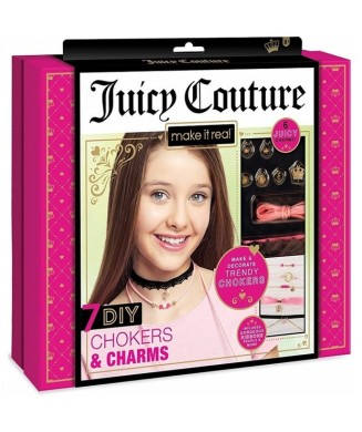 MAKE IT REAL JUICY COUTURE 7 CHOKERS AND CHARMS 4402