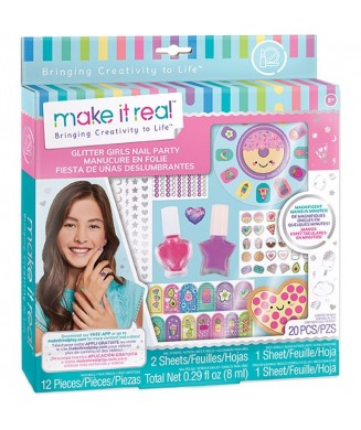 MAKE IT REAL GLITTER GIRLS NAIL PARTY 2306