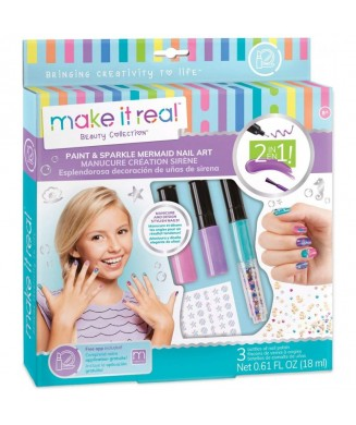MAKE IT REAL PAIN AND SPARKLE MERMAID NAIL ART 2324