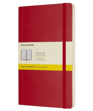 MOLESKINE ΣΗΜΕΙΩΜΑΤΑΡΙΟ LARGE SOFT SQUARED SCARLET RED