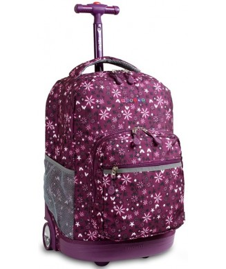 JWORLD ΤΣΑΝΤΑ TROLLEY SUNRISE GARDEN PURPLE 35
