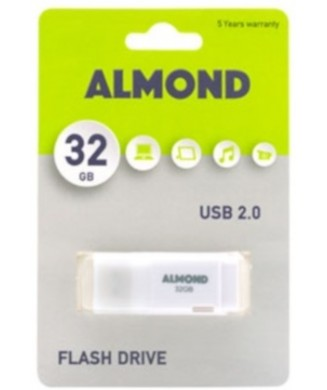 ALMOND USB 2.00 32GB ΛΕΥΚΟ