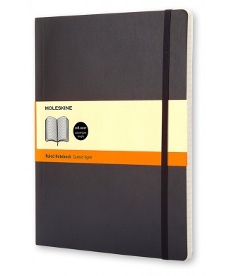 MOLESKINE ΣΗΜΕΙΩΜΑΤΑΡΙΟ XLARGE SOFT RULED CLASSIC BLACK