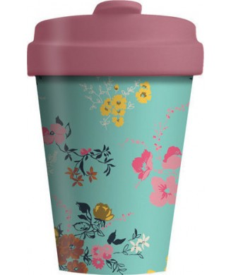 BAMBOO CUP 400ml FLOWER PATTERN BCP310