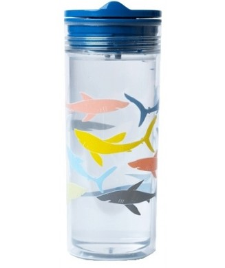 SLIDECUP CRYSTAL 550ml SHARKS TCS106