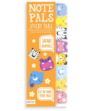 OOLY NOTE PALS STICKY TABS SAFARI ANIMALS 121-002