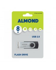 ALMOND USB STICK 8GB ΜΑΥΡΟ
