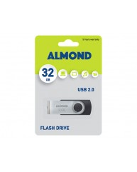 ALMOND USB STICK 32GB ΜΑΥΡΟ