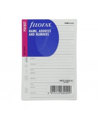 FILOFAX ΑΝΤΑΛΛΑΚΤΙΚΑ POCKET NAME ADDRESS AND NUMBERS 210201