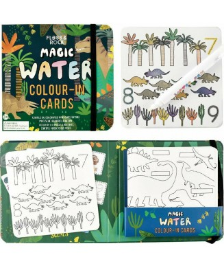 FLOSS AND ROCK MAGIC WATER COLOUR-IN CARDS ΔΕΙΝΟΣΑΥΡΟΙ 41P3647