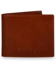 POLICE ΠΟΡΤΟΦΟΛΙ DEBOSS BI-FOLD COIN COGNAC PT478072_1-24